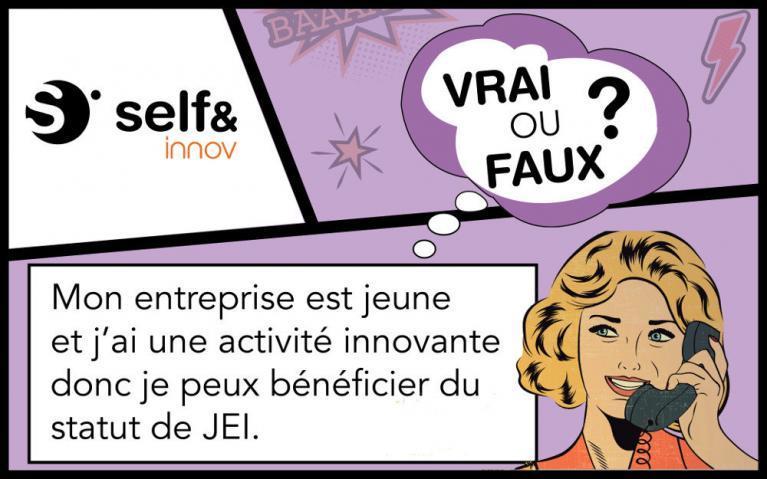 Faux! Pour obtenir le statut de JEI (Jeune Entreprise Innovante) avoir une activité innovante ne suffit pas, il faut faire de la R&D.