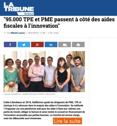 Extrait article de presse La Tribune